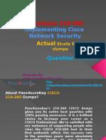 Pass4sure 210-260 Cisco Exam Questions
