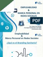 Empleabilidad y Marca Personal en las RRSS Virginia Ruiz 251116