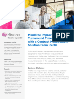 Mindtree Picks Uniquely Designed Icertis Contract Management Software