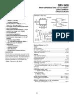 Datasheet SFH 608 Low Current Optocoupler