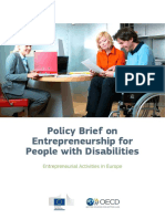 Policy Brief Entrepreneurship People Disabilities