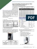 An Optimized Design and Modelling of Prosthetic Runner Blade