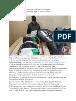 Israel Returns Body of Palestinian Teen Killed in November