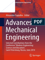Advances in Mechanical Engineering by Alexander Evgrafov