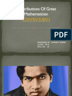 Contribution of Great Mathematician S.ramanujan in Mathematics