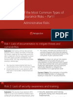 Explanation of the Most Common Types of Administrative Risks