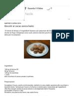 Biscotti Al Cacao Senza Lievito