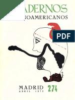 Cuadernos HIspanoamericanos 274