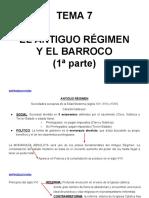 Tema 7- El Antiguo Regimen y El Barroco 1a Parte