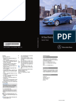 Mercedes Benz B-Class Electric Drive User Manual