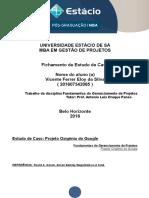 Fichamento Fundamentos Do Gerenciamento de Projetos - Pós Graduação Gestão de Projetos - Vicente Ferrer - Matricula 201607342065