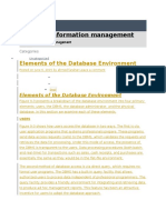 Elements of DB Environment