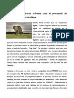 Hadoop La Plataforma Software v2