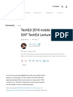 TechEd 2016 Mobile Overview – SAP TechEd Lecture of the Week _ SAP Blogs