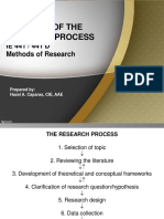 1.0 IE 441 Overview of Research Process