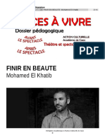 Finir en Beauté, Mohamed El Khatib