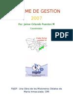 INFORME DE GESTION 2007
