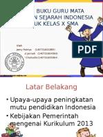 Kajian Buku Guru Mata Pelajaran Sejarah Indonesia Untuk