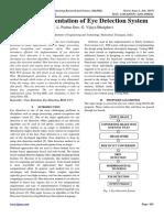 VLSI Implementation of Eye Detection System