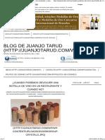 ¿Cuando Podemos Devolver Una Botella de Vino en Un Restaurante y Cuando No_ - Blog de Juanjo Tarud