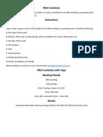 create fbla invitation instructions