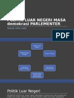 Politik Luar Negeri Masa Parlementer