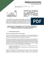 Proyecto de Ley 934 - Ley Orgánica de Municipalidades