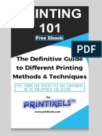 Printing 101 - Free eBook by Printixels