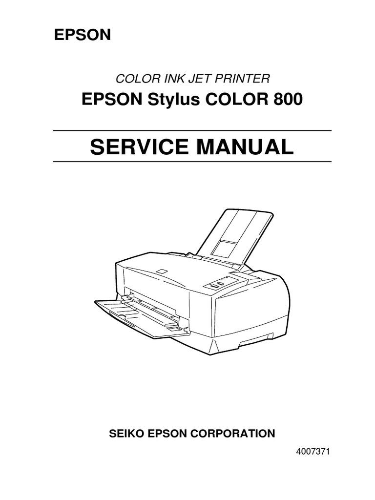 stylus color 800 service manual pdf typefaces printer computing rh scribd com epson stylus photo 825 manual epson stylus photo 820 manual