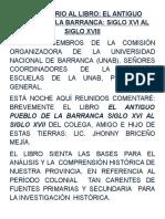 COMENTARIO AL LIBRO DE JHONNY BRICEÑO+