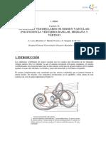036 - Síndromes Vestibulares de Origen Vascular Insuficiencia Vértebro-basilar, Migraña y Vértigo