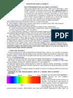 Noțiuni de Fizica Atomică. Spectre Atomice