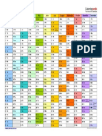 Calendar Landscape in Color