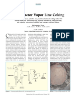 FCC Reactor Vap Line Coking