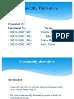 Commodity Derivative