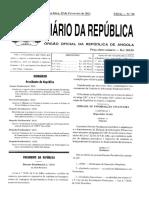 Decreto Presidencial n.º 35_11_ Cria a Unidade de Informação Financeira