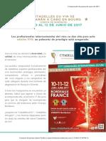 Citadelles Du Vin Comunicado Prensa Enero 2017