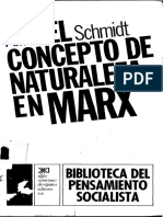 Schmidt Alfred El Concepto de Naturaleza en Marx 1962