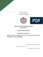 Analísis de la Experiencia del Balotaje en Uruguay