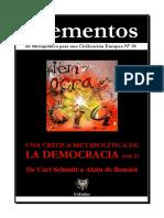 Elementos Nº 39. Crítica a La Democracia