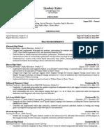 lindseykaler resume