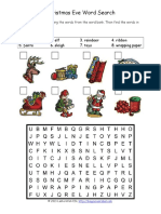 Christmas Eve Word Search