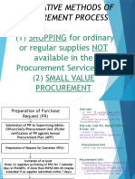 Alternative Procurement Process