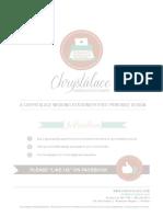 Chrystalace Wedding Stationery Free Printable Wedding Planner Blue