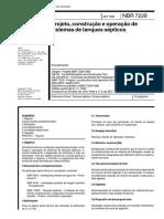NBR 07229 - 1993 - Construção e Instalação de Fossa Séptica e Disposição de Efluentes Finais(Full Permission)