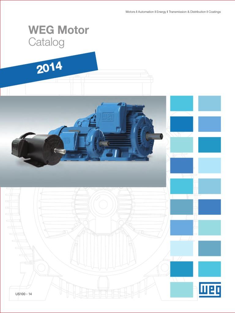 WEG 2014 Weg Motor Catalog Complete Us100 Brochure English ... Weg Es Dfd T Wiring Diagram on