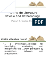 How to Do Literature Review and Referencing