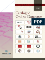 Brepols Catologue Online Databases