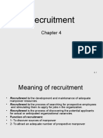 Chapter 4 Recrutment