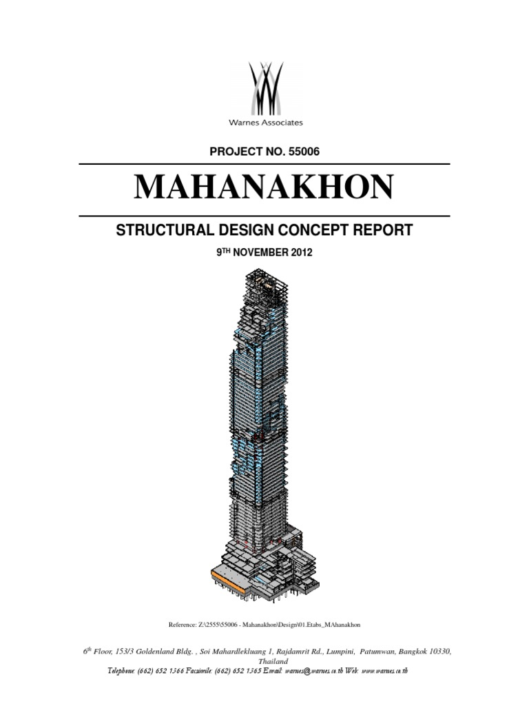 306175551 concept design report mahanakhon buildingpdf structural 306175551 concept design report mahanakhon buildingpdf structural load strength of materials fandeluxe Choice Image